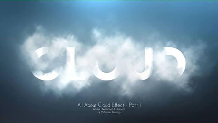 آموزش اجرای افکت ابر (Cloud Effect) در فتوشاپ