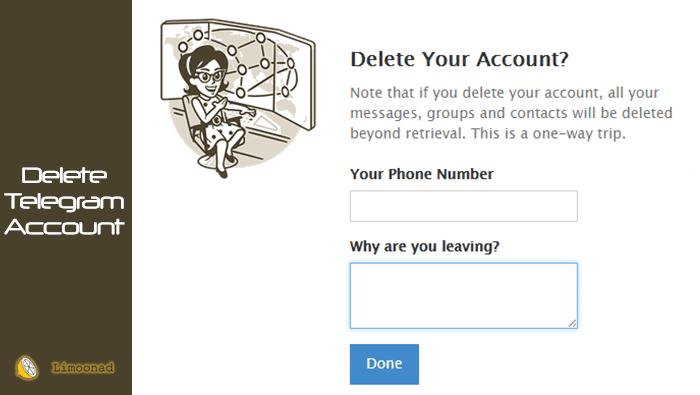 حذف اکانت تلگرام به صورت دائم