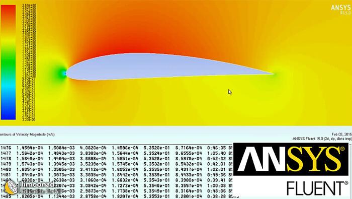 فیلم آموزش طراحی ایرفویل (Airfoil) در محیط انسیس فلوئنت