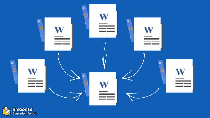 چگونه چند فایل ورد را بدون بهم خوردم تنظیمات ادغام کنیم ؟
