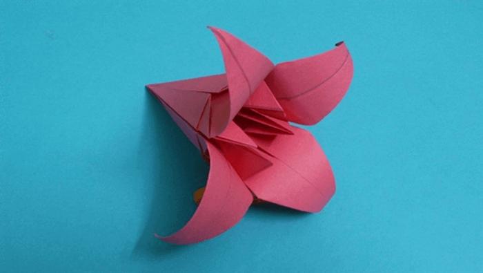 فیلم آموزشی ساخت اوریگامی گل کاغذی - Origami Flower