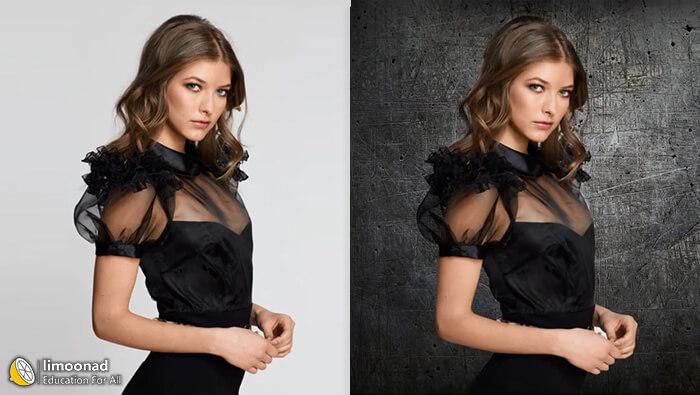 آموزش جدا کردن مو و تور  لباس از پس زمینه عکس در فتوشاپ