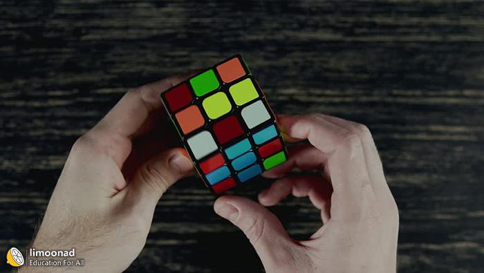 ویدیو آموزش حل مکعب روبیک 3در3